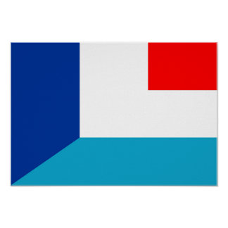 france luxembourg flag country half symbol poster