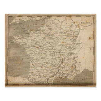 France Map by Arrowsmith Poster