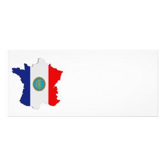 France map rack card design