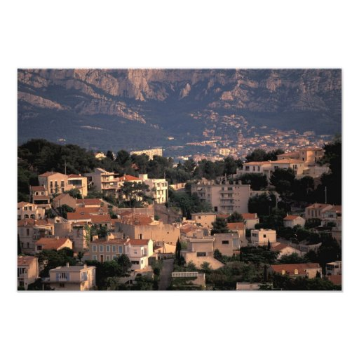 France, Marseille, Provence. Southern suburbs Art Photo
