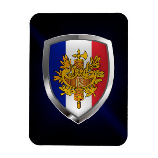 France Metallic Emblem Magnet