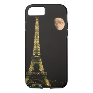 France, Paris. Eiffel Tower at night with iPhone 7 Case