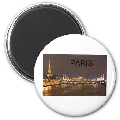 France Paris Eiffel Tower (by St.K) Fridge Magnet