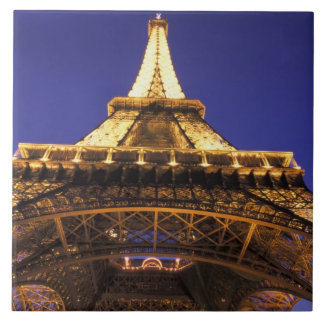 FRANCE, Paris Eiffel Tower, evening view Tile