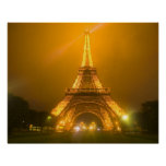 France, Paris. Eiffel Tower illuminated at 3 Poster