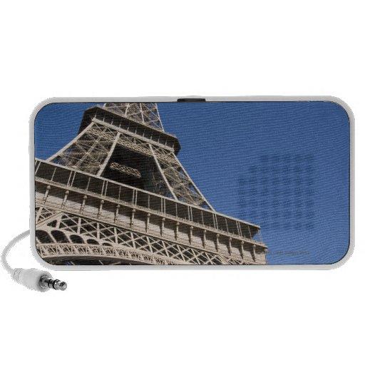 France, Paris, Eiffel Tower, low angle view Mini Speaker