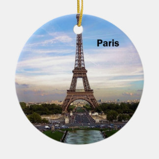 France Paris Eiffel  tower (new) (St.K) Round Ceramic Ornament