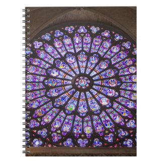 France, Paris. Interior detail of stained glass Note Book