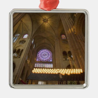 France, Paris. Interior of Notre Dame Cathedral. Metal Ornament
