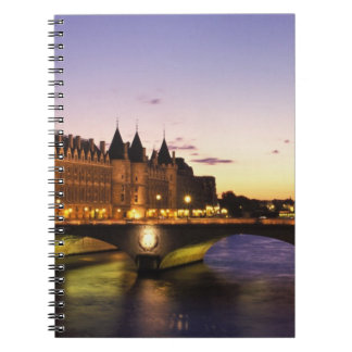 France, Paris, River Seine and Conciergerie at Spiral Notebooks