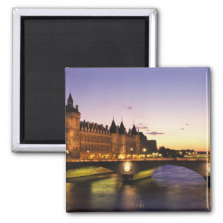 France, Paris, River Seine and Conciergerie at Square Magnet