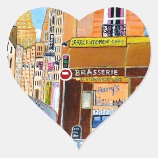 France, Paris,Rue Dominique Heart Sticker