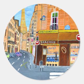 France, Paris,Rue Dominique Round Sticker