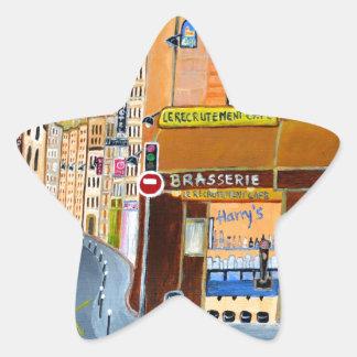 France, Paris,Rue Dominique Star Sticker