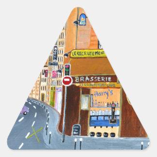 France, Paris,Rue Dominique Triangle Sticker