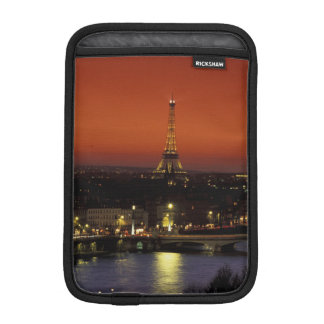 France, Paris Sunset view of Eiffel Tower and Sleeve For iPad Mini