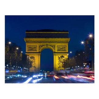 France, Paris. The Arc de Triomphe and the Postcard