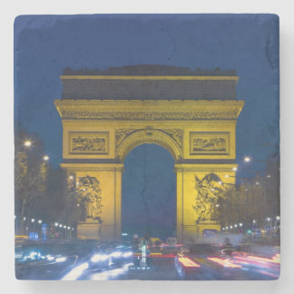France, Paris. The Arc de Triomphe and the Stone Coaster
