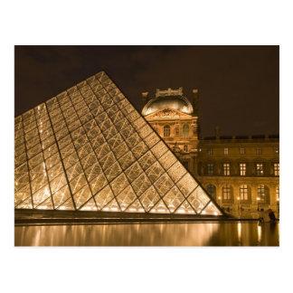 France, Paris. The Louvre at twilight. Credit 2 Postcard