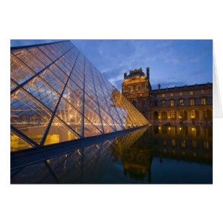 France, Paris. The Louvre at twilight. Credit 3 Card
