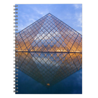 France, Paris. The Louvre at twilight. Credit Spiral Notebook