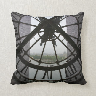 France, Paris. View across Seine River through Throw Pillow