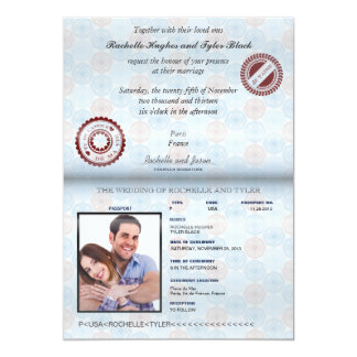 France Passport (rendered) Wedding Invitation II