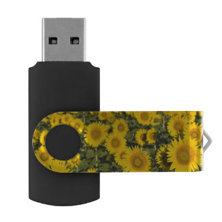 France, Provence, Valensole. Field of Swivel USB 2.0 Flash Drive