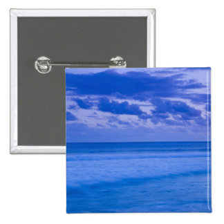 France, Reunion Island, St-Pierre, waterfront 2 Inch Square Button