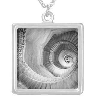 FRANCE, Rhone Valley, LYON: Traboule Staircase Silver Plated Necklace
