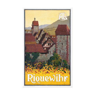 France Riquewihr Vintage Travel Poster Restored Canvas Print