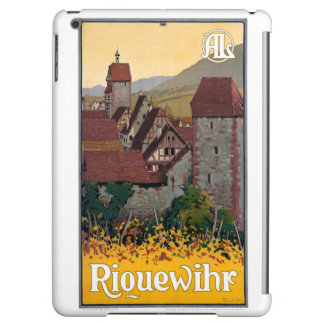 France Riquewihr Vintage Travel Poster Restored iPad Air Cases