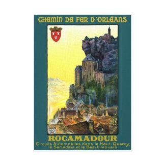France Rocamadour Vintage Travel Poster Restored Canvas Print