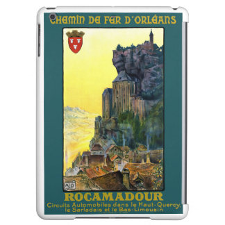 France Rocamadour Vintage Travel Poster Restored Cover For iPad Air