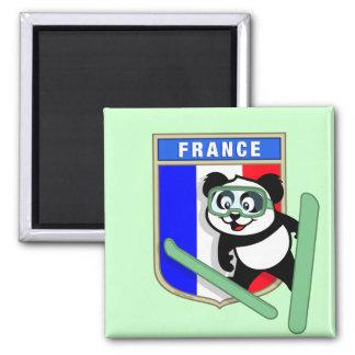 France Ski-jumping Panda Magnet