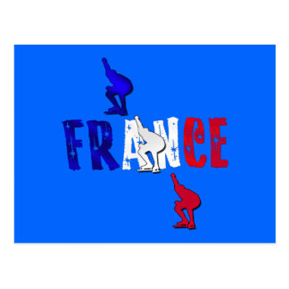 France speed skating skaters ice rink gifts postcard