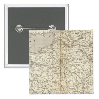 France, Switzerland and Belgium 2 Inch Square Button