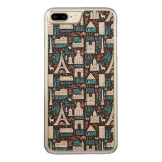 France | Symbols Pattern Carved iPhone 7 Plus Case