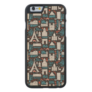France | Symbols Pattern Carved® Maple iPhone 6 Slim Case