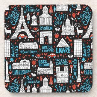 France | Symbols Pattern Coaster