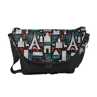 France | Symbols Pattern Commuter Bag