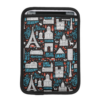 France | Symbols Pattern iPad Mini Sleeve
