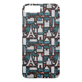 France | Symbols Pattern iPhone 8 Plus/7 Plus Case