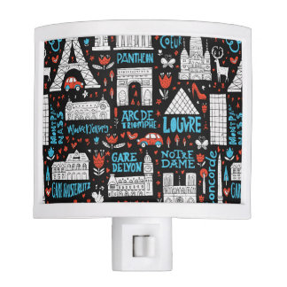 France | Symbols Pattern Night Light