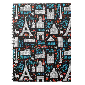 France | Symbols Pattern Notebook