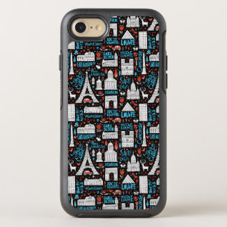 France | Symbols Pattern OtterBox Symmetry iPhone 7 Case