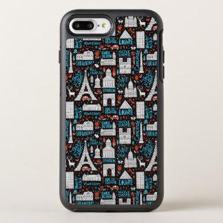 France | Symbols Pattern OtterBox Symmetry iPhone 7 Plus Case