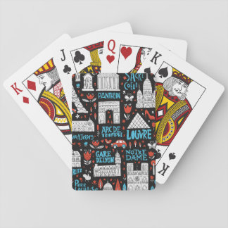 France | Symbols Pattern Playing Cards