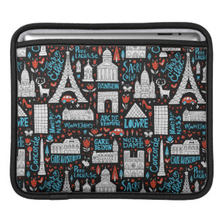 France | Symbols Pattern Sleeve For iPads