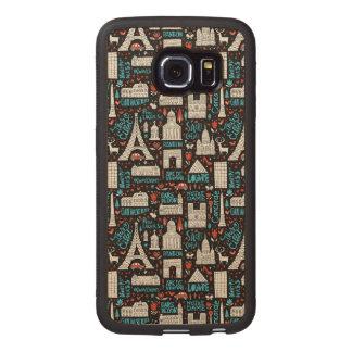 France | Symbols Pattern Wood Phone Case